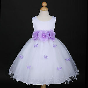 Whitelilac Lavender Easter Wedding Flower Girl Dress 6m 12m 18m 2 3
