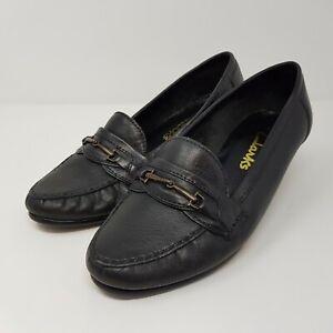 clarks black horsebit court / office / casual leather