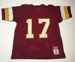 the latest 93f08 25073 Details about VTG 80s (L) Doug WIlliams WASHINGTON REDSKINS #17 Red  Football Jersey Super Bowl