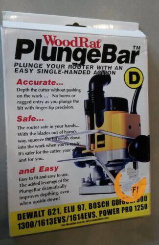 Wood Rat Plunge Bar Type D fits Various DeWalt /& Bosch Plunge Router Models