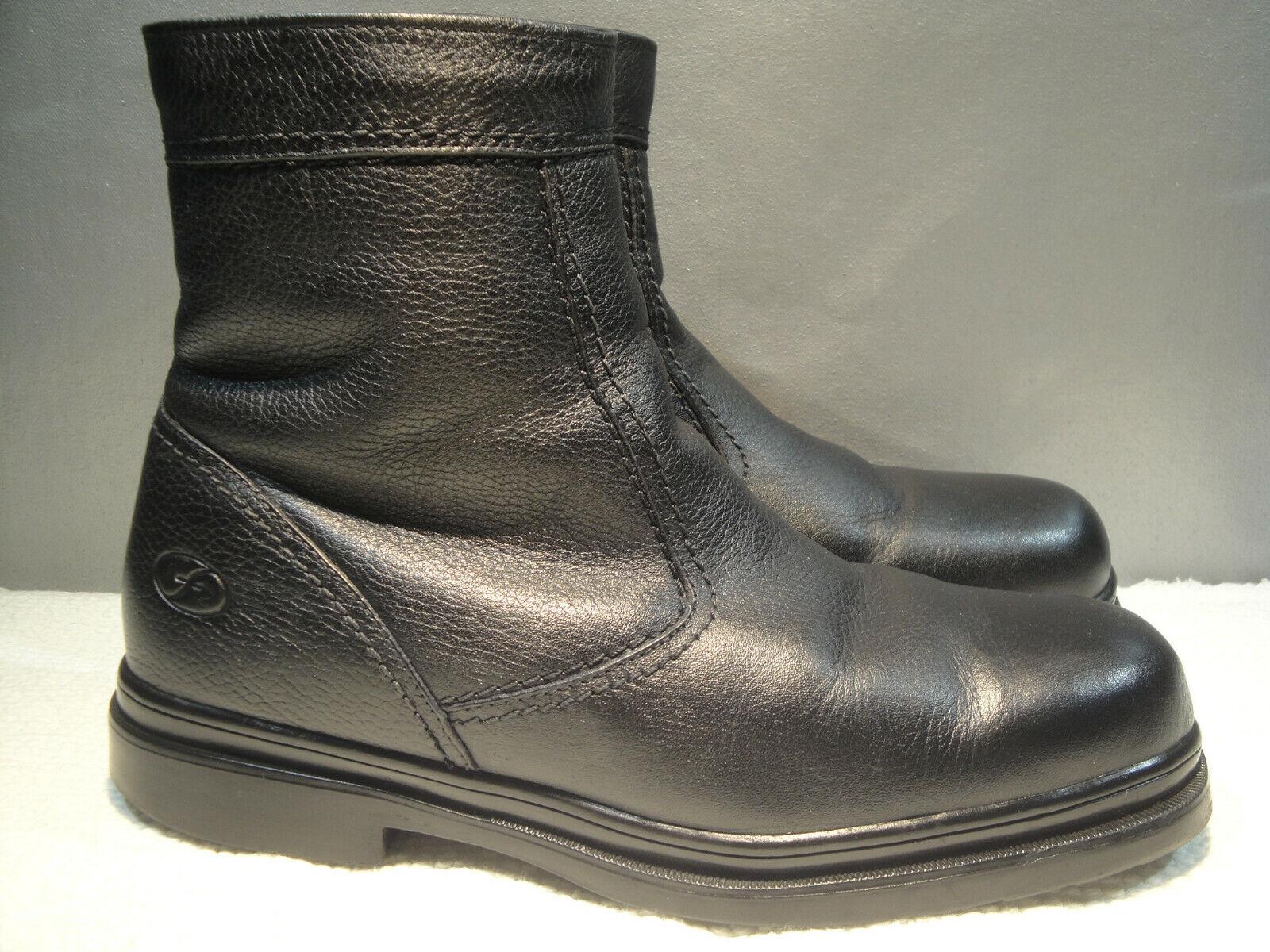 Para hombres Cuero Negro Impermeable 11 M Florsheim Cálido botas De Cremallera De Vellón Comodidad