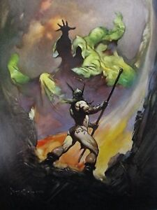 GALLEON Frank Frazetta Vintage 1973 Fantasy UFO Dream Ship Alien Pirate Sci-Fi