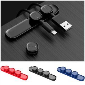 Peas Durable Magnetic Cable Clip Usb Cable Organizer Clamp