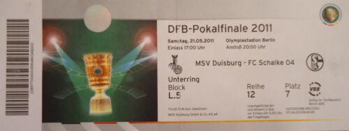 FC Schalke 04 TICKET DFB Pokal Finale 2011 MSV Duisburg