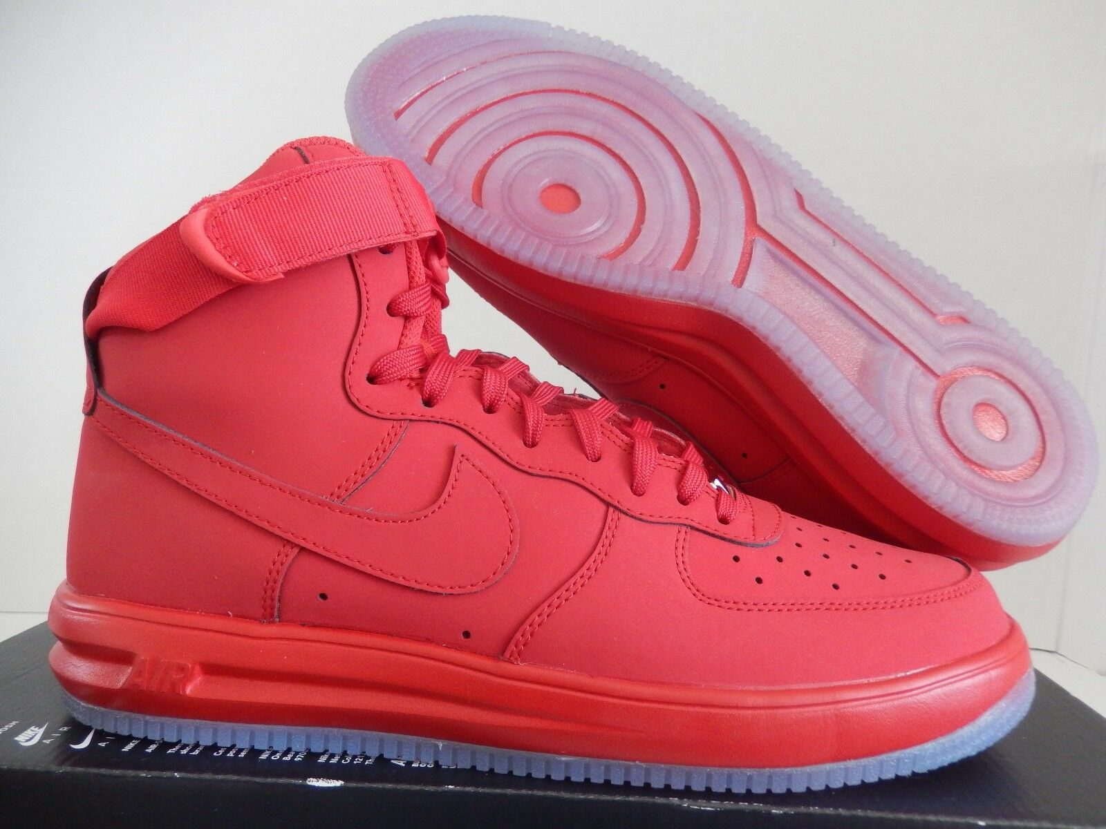 NIKE LUNAR FORCE 1 HI HIGH '14 UNIVERSITY RED