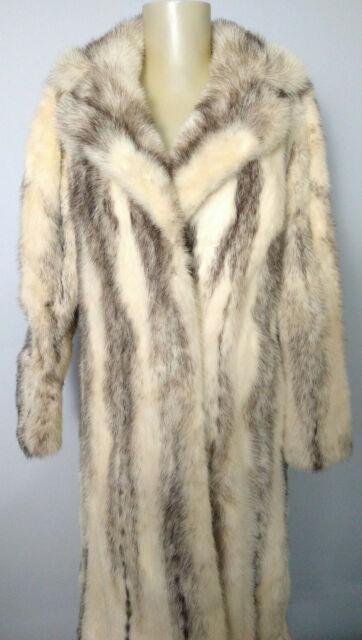 Vintage Genuine Fitch Mink Fur Long Coat Womens Size S