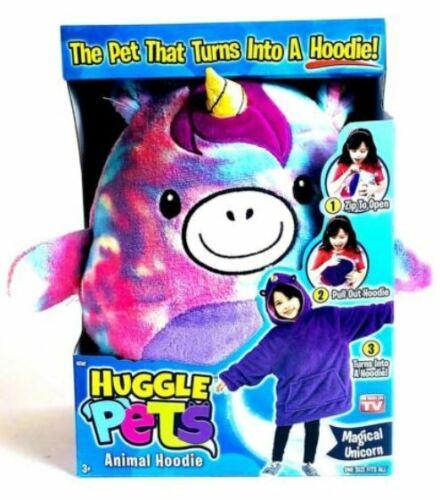 Ontel Huggle Pets Rainbow Unicorn Animal Hoodie Ages 3-11