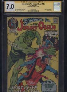 Superman's Pal Jimmy Olsen #136 CGC 7.0 SS Neal Adams 1971 JACK KIRBY