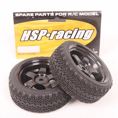 New Lot 4 pcs RC Flat Drift Tires Wheel Rim Fit HSP HPI 1:10 On-Road Car 6030