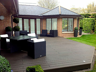 Composite Decking Clarity Walnut 11 Square Metre Pack (incl. fixings and screws)