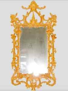 Sweet-Tempered George Ii Irish Chippendale Period Giltwood Mirror 18th Century Available In Various Designs And Specifications For Your Selection Mirrors