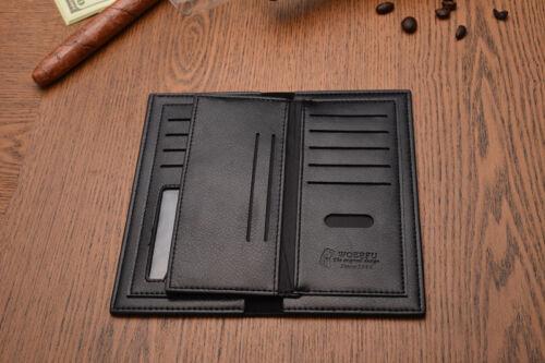 Fanshion Homme Long Cuir Synthétique Portefeuille Portefeuille Pour Cash /& cartes HM001 Noir