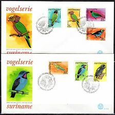 Suriname - 1977 Definitives birds - Mi. 764-70 clean FDC's
