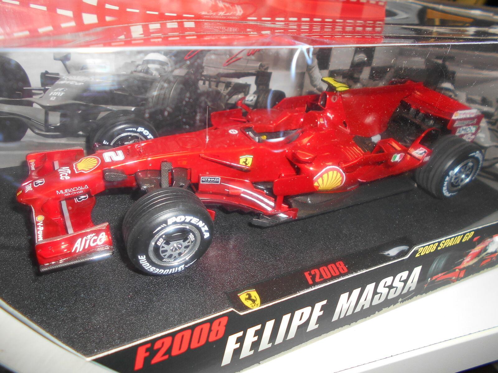 HWEP99967 av varm Hklackar ELITE FERRARI F2008 F.MASSA SPANSH GP 2008 1 18