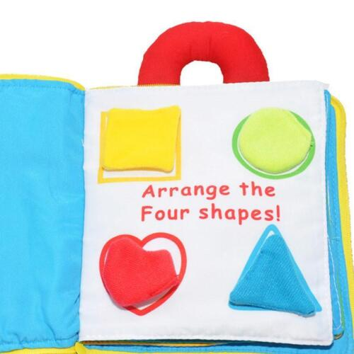 Multi Dimensional My Quiet Book Baby Plush Toy Gift Color Solf Game Story Book.