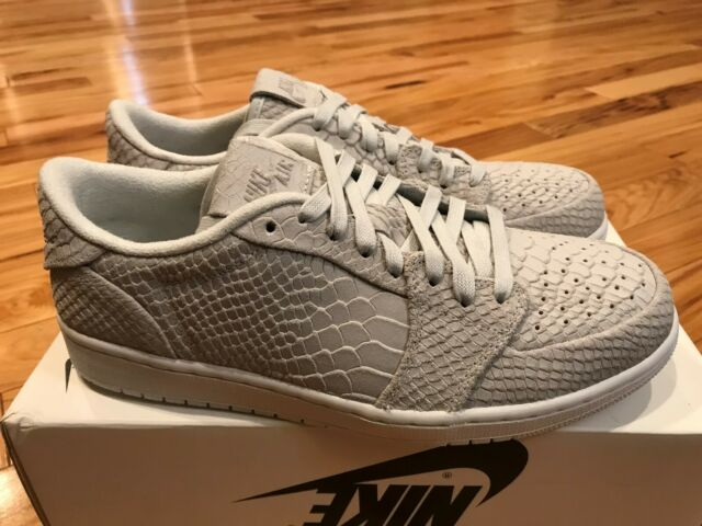 limited guantity closer at discount shop Nike Air Jordan 1 Retro Low NS Off White Python Swooshless 872782-111 Size  10