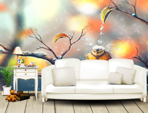 3D Snow Tree Branches Bird7 Wallpaper Mural Paper Wall Print Wallpaper Murals UK