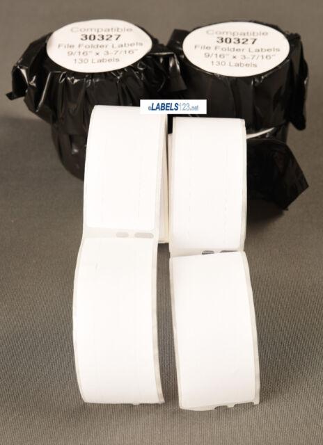 File Folder Labels 130 White Rolls 30327 Compatible w// Dymo® LW EL40 450 Turbo