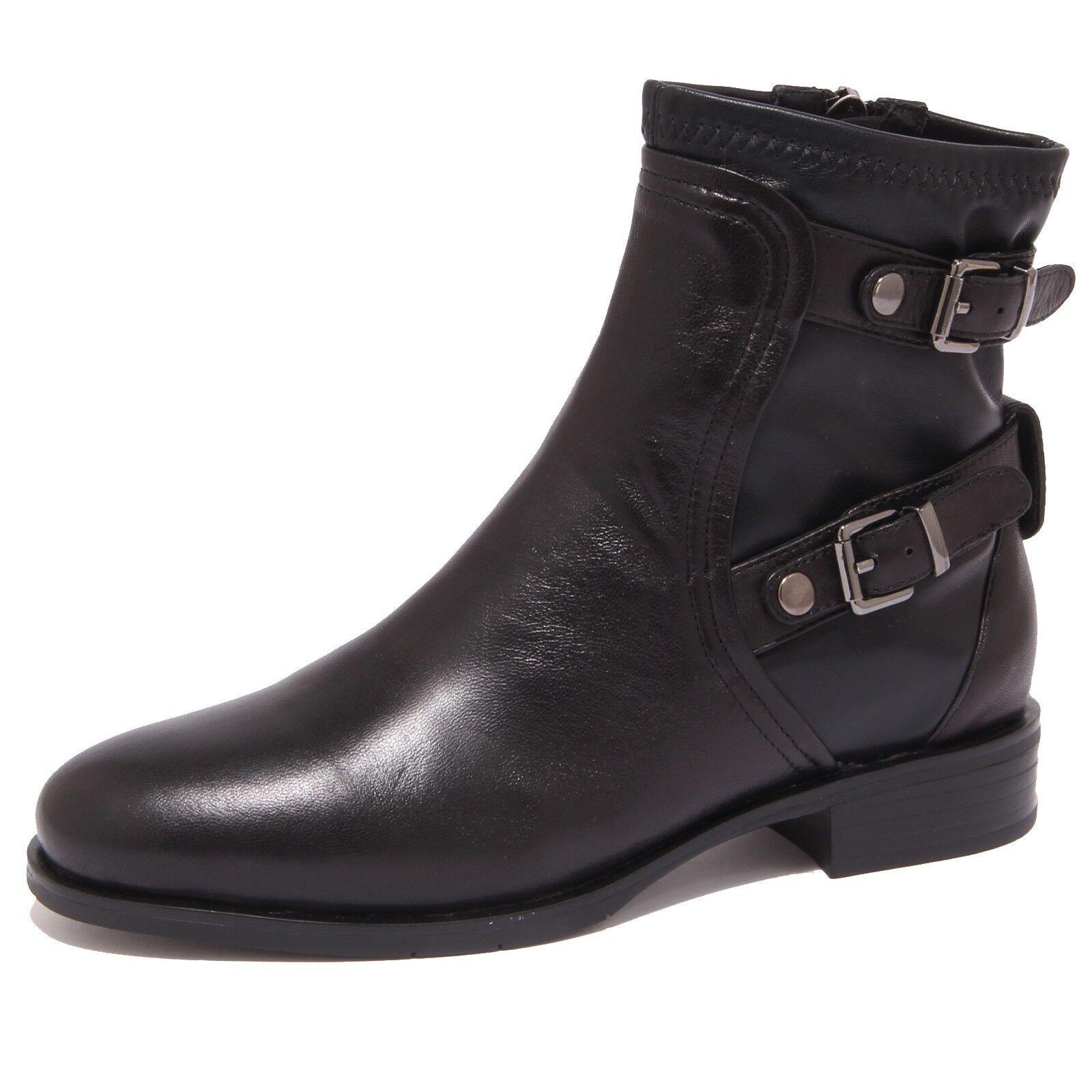 Grandes zapatos con descuento 8648P stivaletto MASSIMO SANTINI nero tronchetto donna boot woman