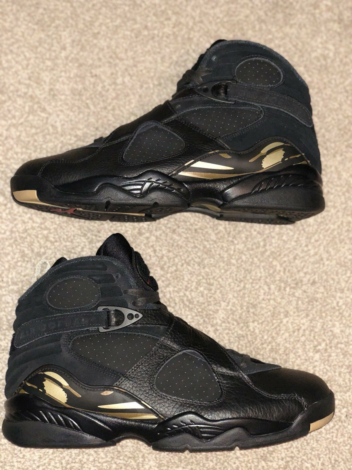 OVO x Jordan 8 Retrò Air Nike Nero Taglia UK9 US10 EU44 LOTTO