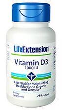 Life Extension Vitamin D3 - 1000IU -  250 Softgels Vitamine & Mineralien