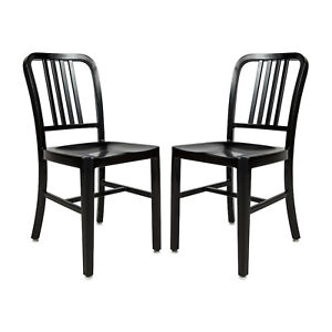 2x-Aluminum-1940s-Navy-Style-Dining-Chairs-Anodized-Finish-In-Outdoor-Black