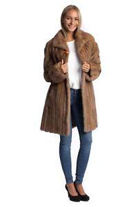 Manteau manteau vison veste de beige 40 fourrure 42 fourrures Меха fourrure de de rq4rZA0