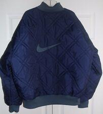 Vintage 90s Nike Reversible Bomber Jacket Size Large Quilted Rap Hip Hop Swoosh