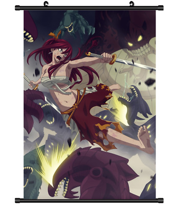 """Hot Japan Anime Fairy Tail Erza Home Decor Poster Wall Scroll 8/""""x12/"""" PP328"""