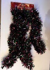 15 FT DARK PINK & GREEN FOIL TINSEL MARDI GRAS CHRISTMAS HOLIDAY GARLAND
