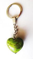 exklusiver Schlüsselanhänger Glas Herz / Unikat / Geschenkset / Grün