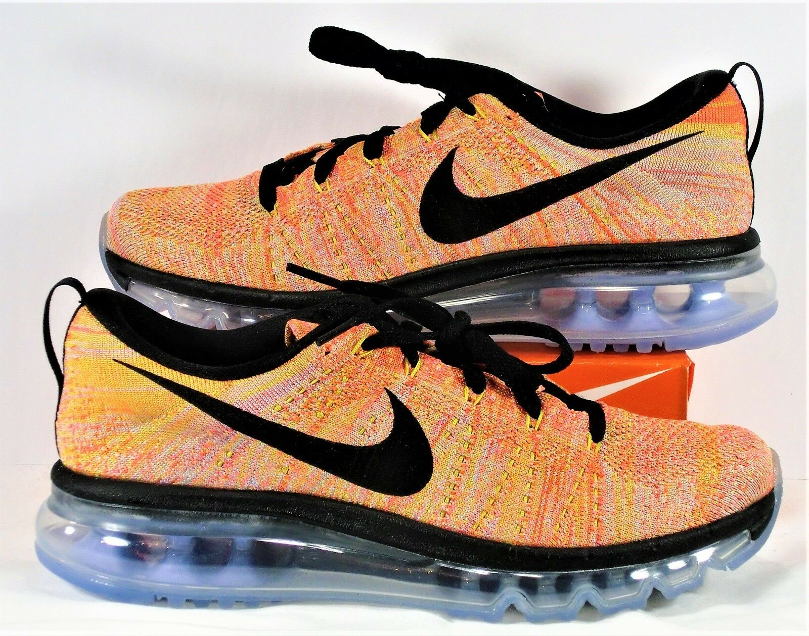 Nike Air Flyknit Max Black & Hot Punch Running Shoes Sz 7.5 NEW 620659 406 best-selling model of the brand