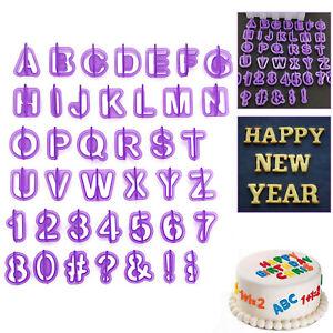 40pcs Alfabeto Numero Lettera Fondente Decorazione Torte Glassa Set Cutter mold STAMPO