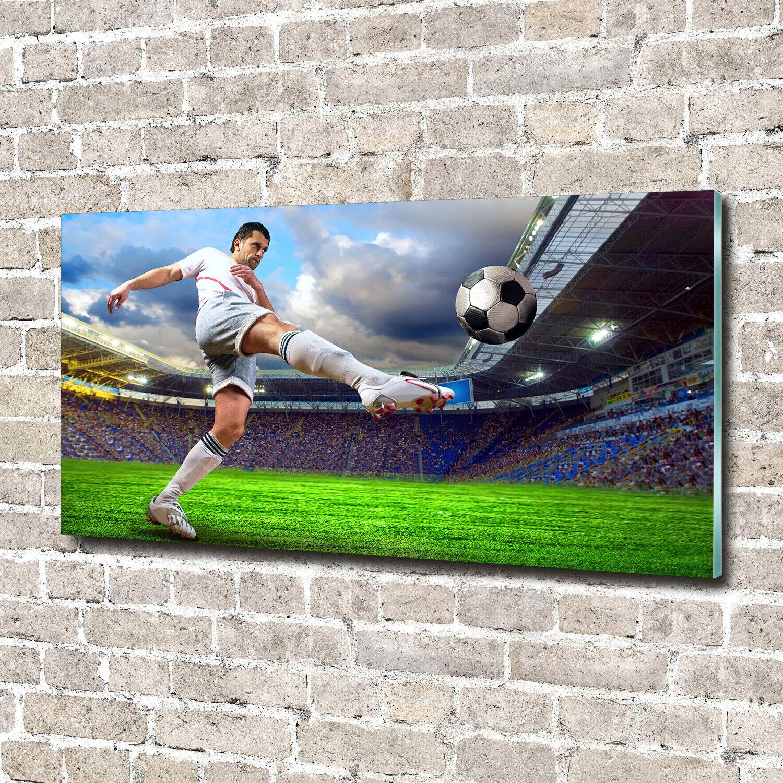 Acrylglas-Bild Wandbilder Druck 140x70 Deko Sport Fußballspieler