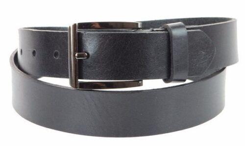 Men/'s 32MM Steer Hide Leather Dress Belt Polished Gunmetal Buckle Made In USA