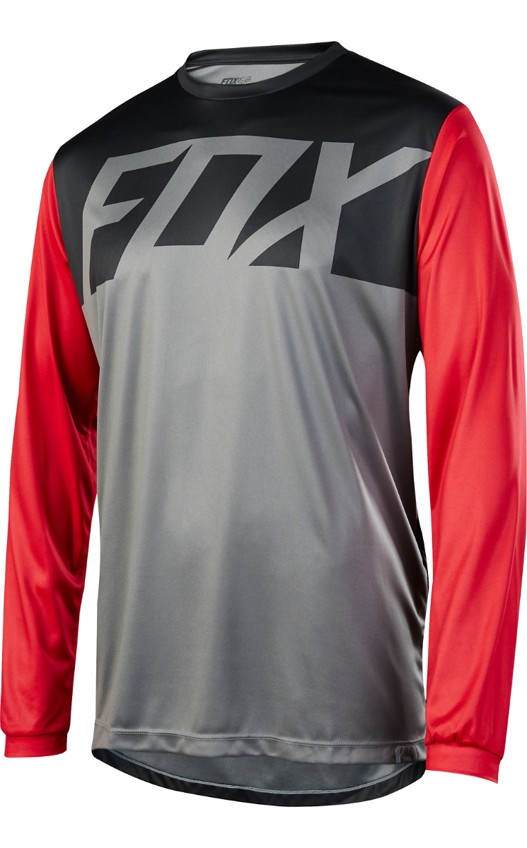 Fox Racing Ranger Long Sleeve LS Jersey Graphiterosso