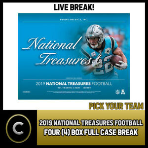 2019-PANINI-NATIONAL-TREASURES-NFL-4-BOX-FULL-CASE-BREAK-F413-PICK-YOUR-TEAM