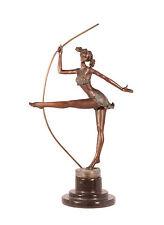 Bronze Skulptur Artistin Tänzerin Ballerina Figur erotisch neu 99937993-dss