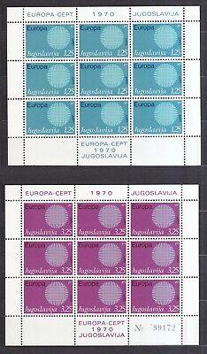 Sporting Jugoslawien 1970 Postfrisch Kleinbogen Minr 1379-1380 Europa Ausreichende Versorgung Europa