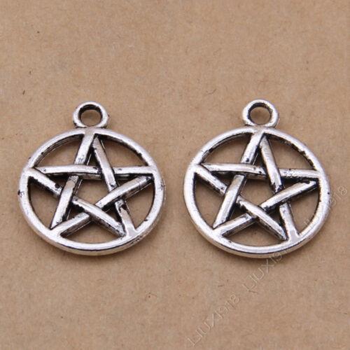 20pc Retro Pentagrama colgantes pequeños accesorios encanto estrella fabricación de joyas V629