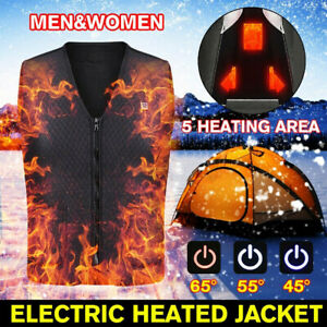 For Hiking Upgraded Heated Vest, Warming Heated Electric USB Jacket Thermal Coat