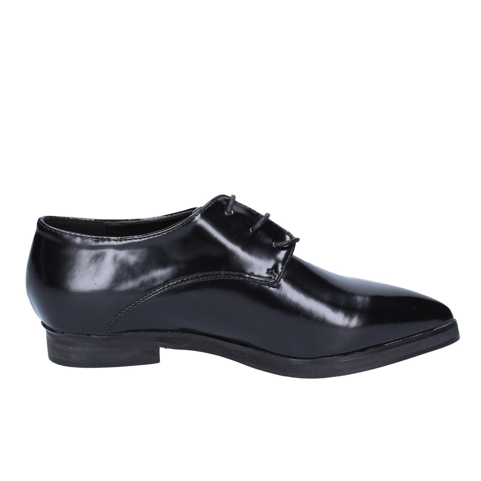 Scarpe Scarpe Scarpe donna FRANCESCO MILANO 37 elegante pelle nera bx328-37 111e62