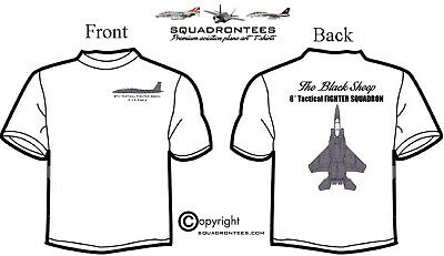 8th TFS F-15 Eagle Black Sheep Squadron T-Shirt Premium Art