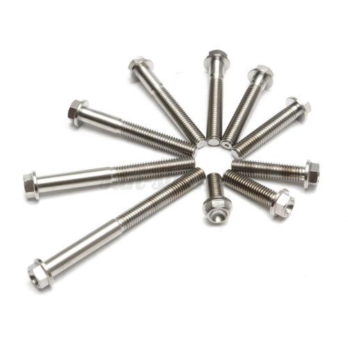 M8x1.25  8mm*1.25mm Titanium Hex Head Bolt Screw 20 30 35 40 45 50 55 60 75
