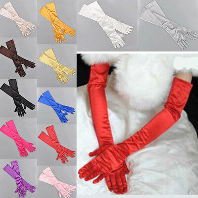Lady Women's Bridal Wedding Evening Party Prom Fancy Costume Long Stretch Gloves