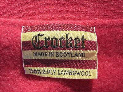 CROCKET Damen Strickjacke Cardigan 2 Ply Lambswool made in