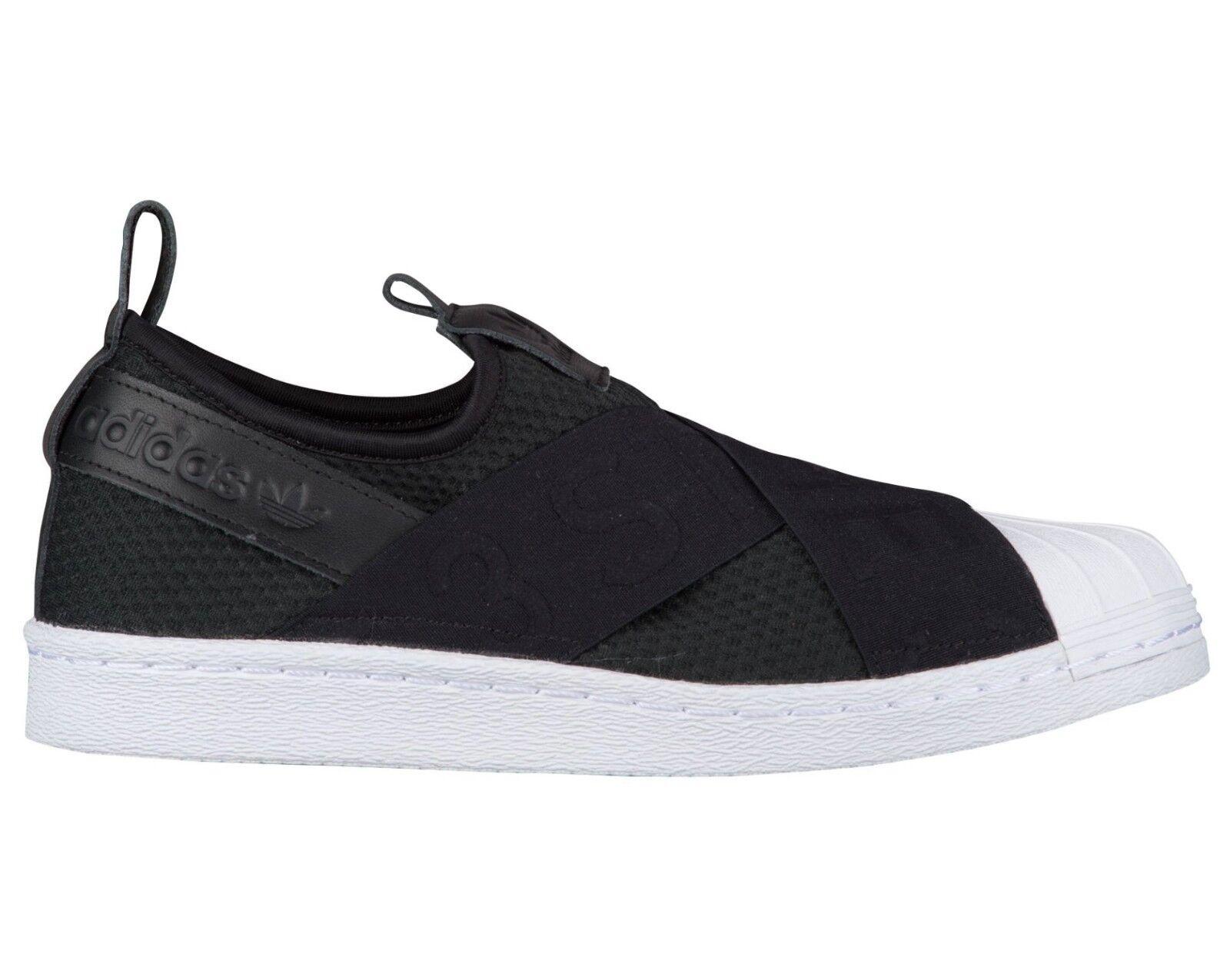Adidas Superstar Slip On Womens CQ2382 Black White Neoprene Shell shoes Size 9