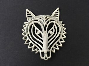 Wolf-Pin-Vintage-Wireframe-White-Metal-Wolves-2-125-034-Brooch-Pendant