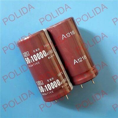 1PCS Electrolytic Capacitor NIPPON 25*50mm 10000UF50V//50V10000UF