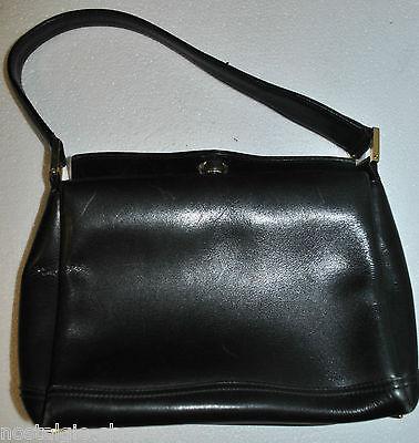 50er 60er Henkeltasche Damentasche schwarz Leder Handtasche 50s 60s Bag